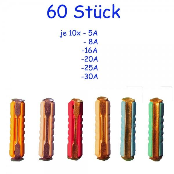 Lexotech® 60 Torpedosicherungen Sortiment (je 10x 5A, 8A, 16A, 20A, 25A, 30A)